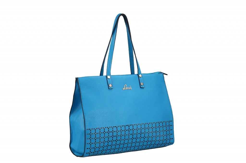 Lavie cobalt blue cutwork bag