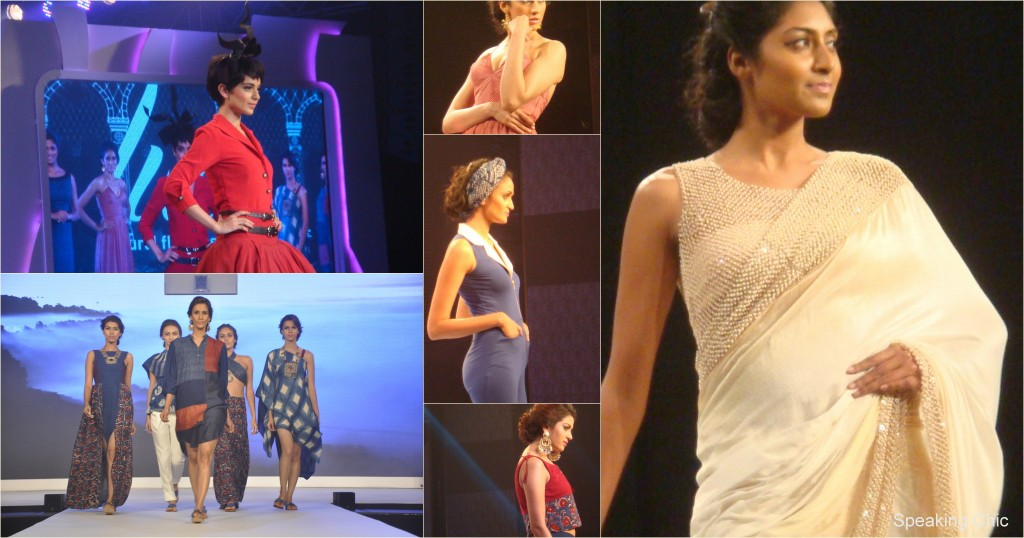 Liva fashion show collage