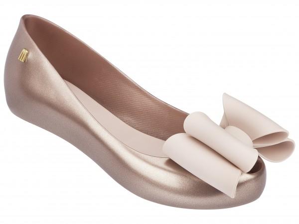 Melissa metallic ballet flat