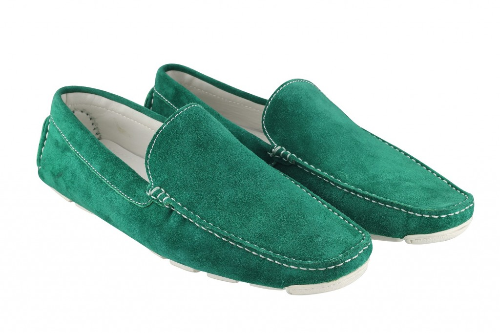 Mochi green loafer shoes