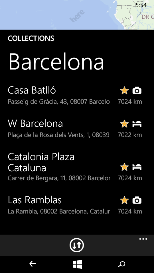 Here Maps windows mobile app