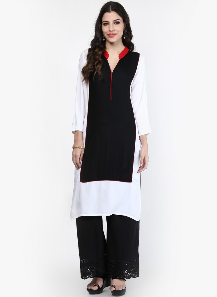 Aks-Black-Kurti with pants