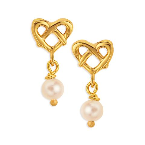 Tanishq- drop earrings with pearl