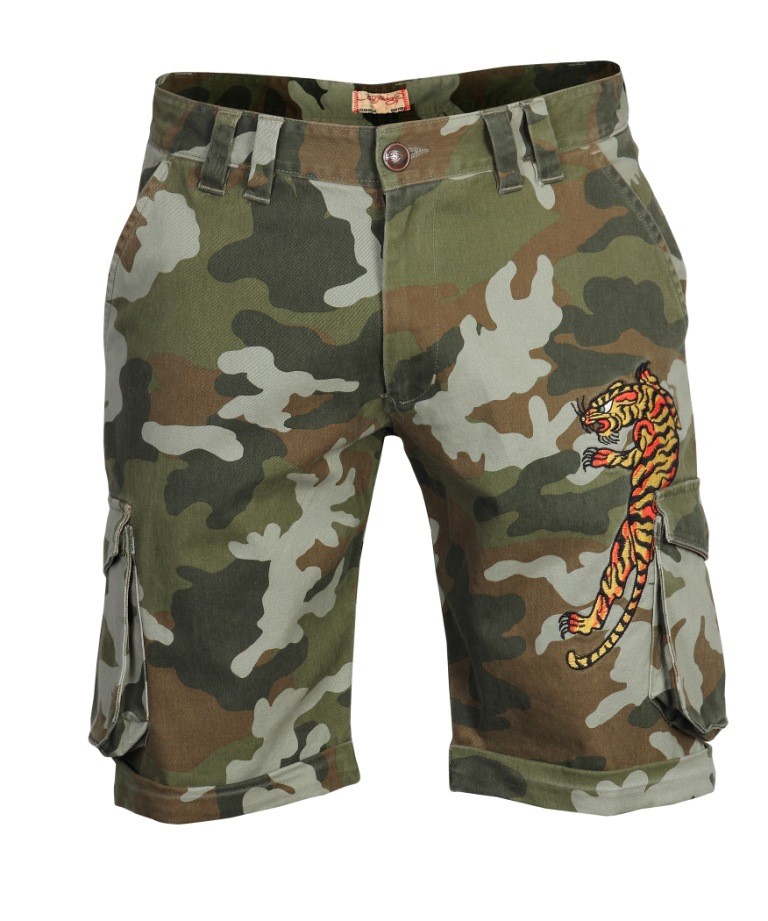 Ed Hardy mens military shorts