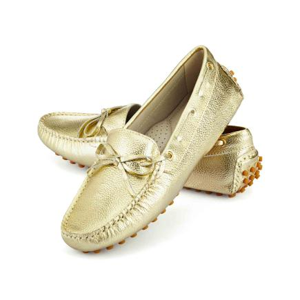 Tresmode  gold loafers