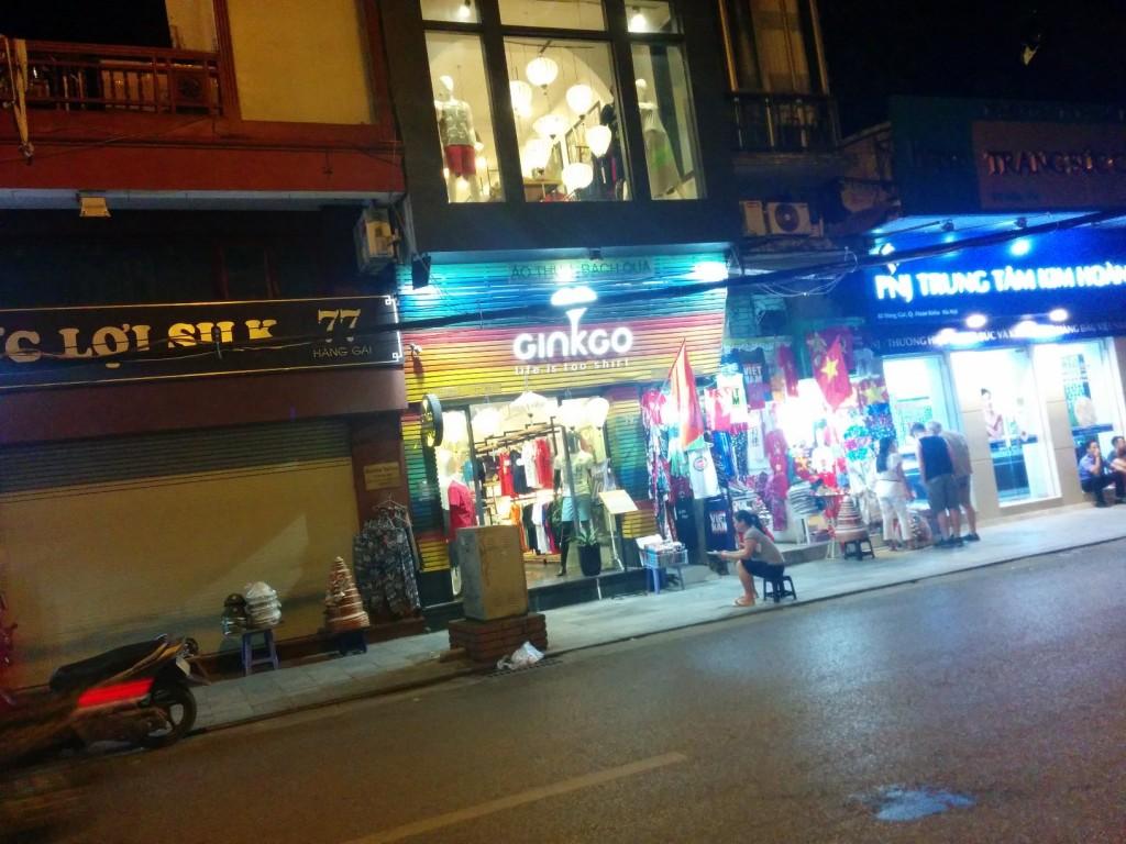 Hanoi Vietnam street shopping