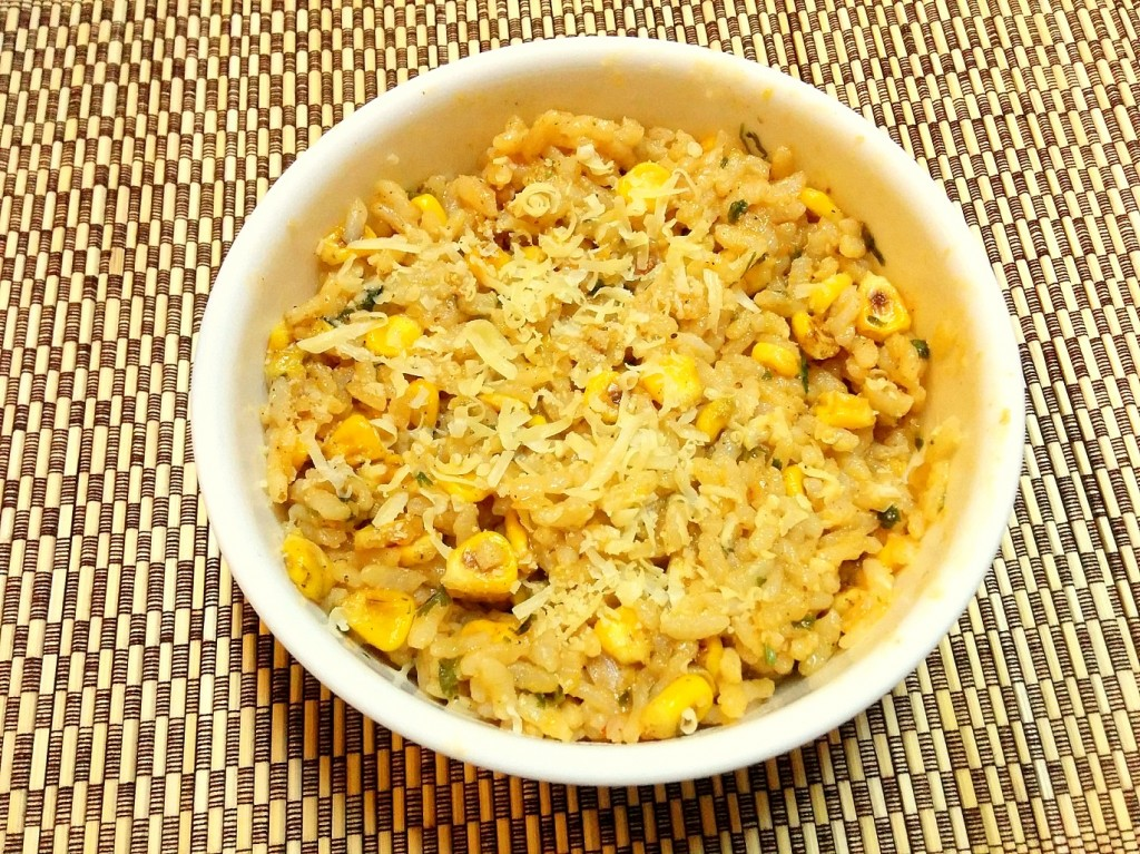 Roasted corn and smoked paprika risotto