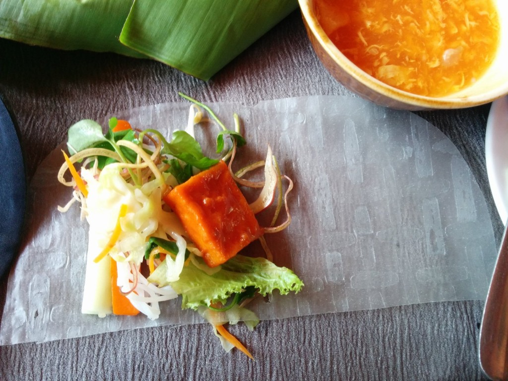 Vietnam food DIY spring rolls