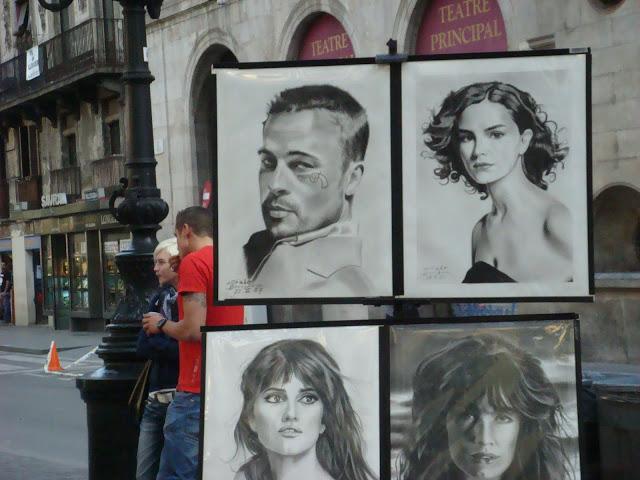 Barcelona shopping La Rambla artists