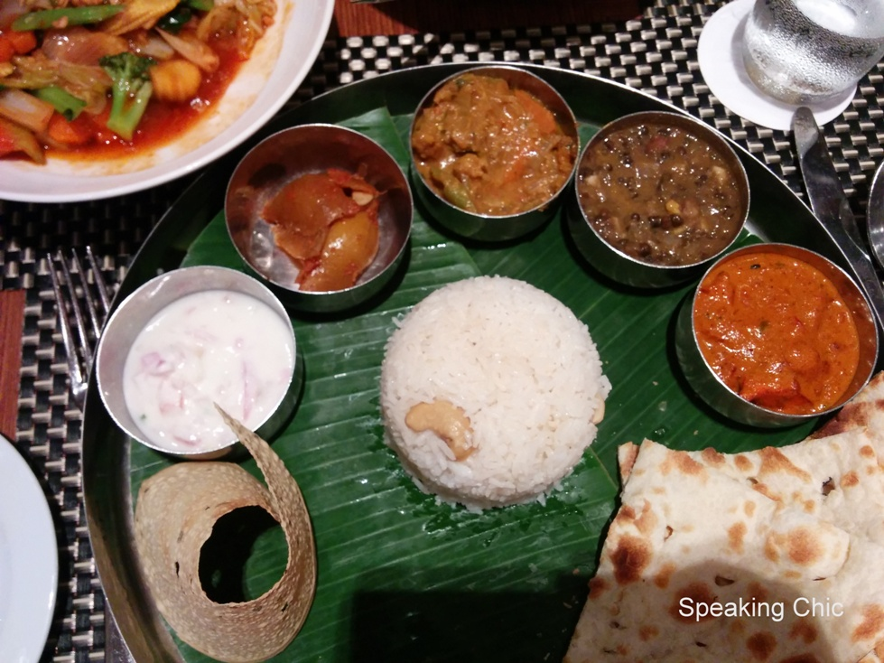 Indian thali food