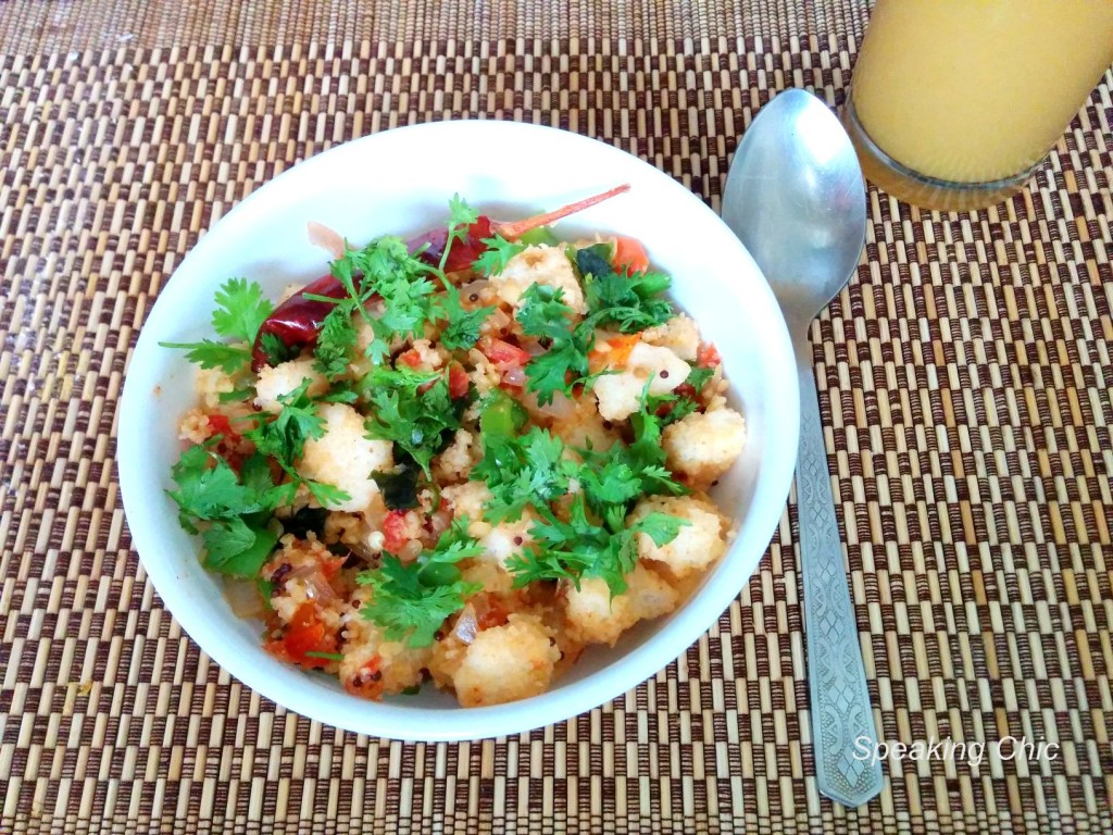 Leftover idlis Indian breakfast recipe