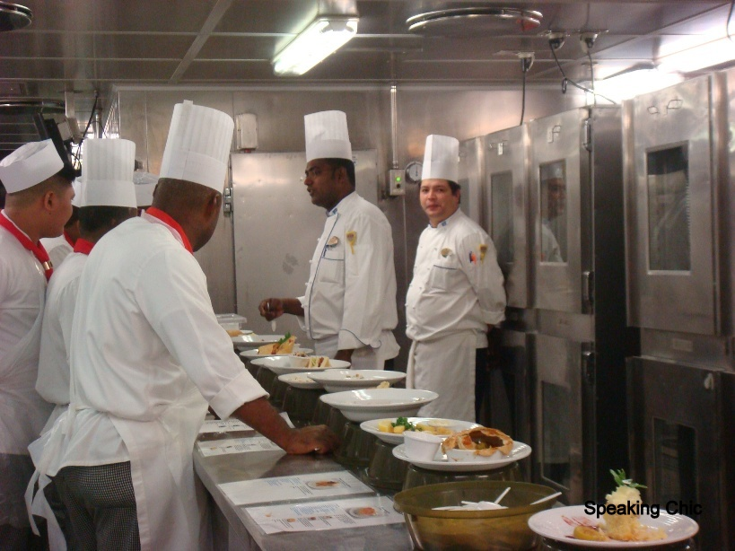 Royal Caribbean cruise kitchen