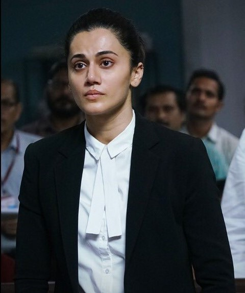 Taapsee Pannu in Mulk white shirt black pants