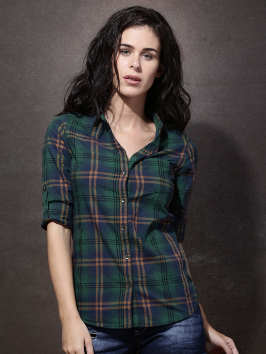 Checked womens shirt for Taapsee look