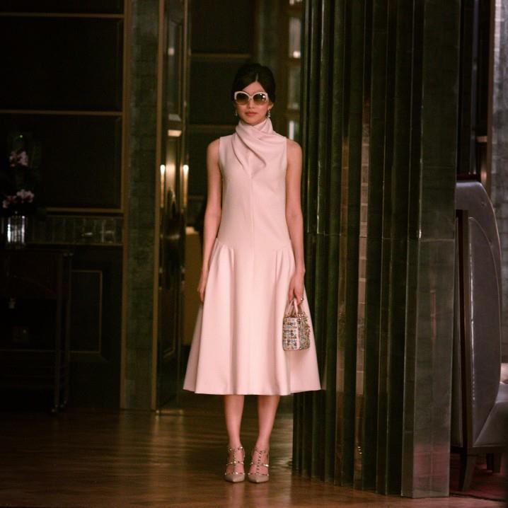 Gemma Chan Crazy Rich Asians Dior dress